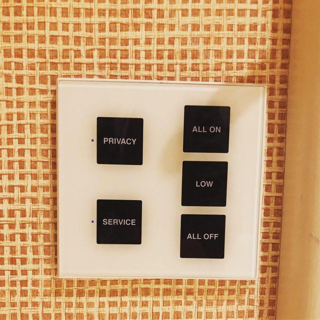 Wynnホテル コントロールボタン